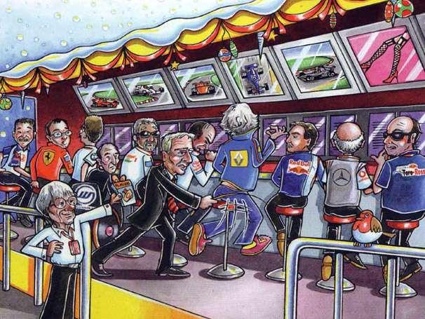 Cartão de natal de Bernie Ecclestone faz piada com escândalo de Max Mosley